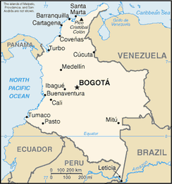 A map of Colombia