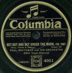 The label of an electrically recorded Columbia disc by Paul Whiteman
