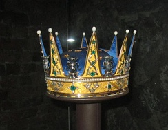 Coronet created for Prince Charles and worn at his brother Gustav's coronation in 1772.