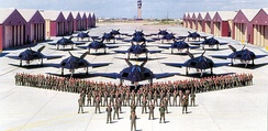 F-117A Nighthawks of the 49th Operations Group at Holloman AFB, taken shortly after their arrival from Tonopah Airport, Nevada in 1992