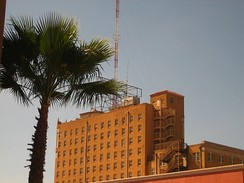 The former Hamilton Hotel, the tallest building in Laredo