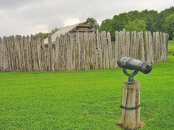 A recreation of Fort Necessity