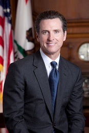 California Lieutenant Governor Gavin Newsom addressed the convention on the third night