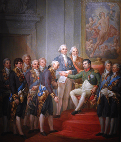 Napoleon Bonaparte establishing the Duchy of Warsaw under French protection, 1807