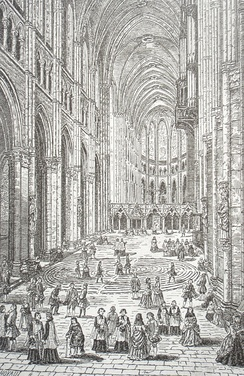 Chartres Cathedral, about 1750, Jean Baptiste Rigaud