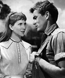 Julie Harris and James Dean in East of Eden (1955)