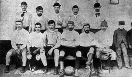 The first football team, 1892.