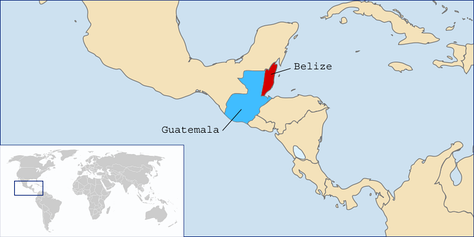 Belize (red) and Guatemala (blue).