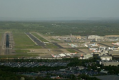 London Gatwick is near the M23