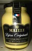 A jar of Dijon mustard