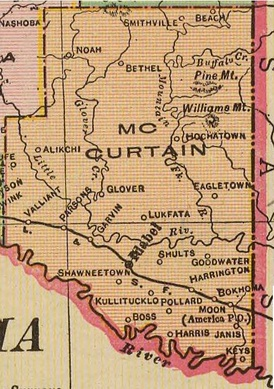 Map of McCurtain County, 1909