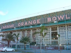 Orange Bowl, outside of west end zone