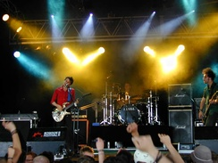 Muse performing at Roskilde Festival in Denmark, July 2000