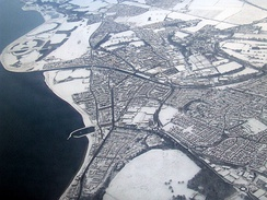 Musselburgh from the air (winter)