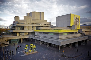 The Royal National Theatre's Olivier Theatre (1976), designed by Denys Lasdun, located in London, England.