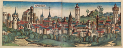 A panorama of Augsburg, perhaps the main revenue of the Imperial court of Charles V in Germany.