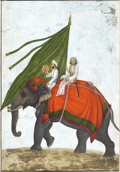 One of the many Alam (flags) of the Mughal Empire.