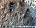 First-Year & First-Mile Traverse Map of the Curiosity rover on Mars (August 1, 2013; 3-D).