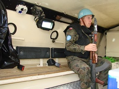 A peacekeeping soldier of Poland in Syria