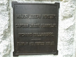 Plaque honoring Franklin at Guilford Courthouse