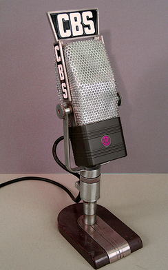 RCA-44, a classic ribbon microphone introduced in 1932. Similar units were widely used for recording and broadcasting in the 1940s and are occasionally still used today.