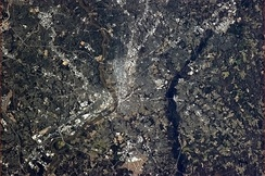 The Richmond area, seen from the International Space Station in early-April 2013.