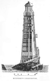 Elevation of Rudyard's lighthouse finished in 1709