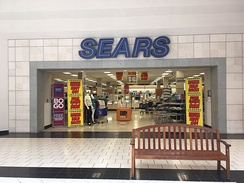 Store closing sale at the Sears in the Dover Mall in Dover, Delaware in May 2018. The store closed in August 2018.