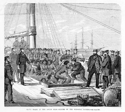 In 1869 HMS Rosario seized the blackbirding schooner Daphne and freed its passengers.[1]