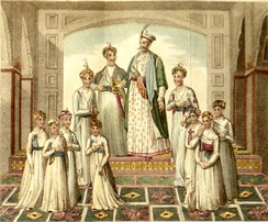 Shuja-ud-Daula with his sons and relatives.