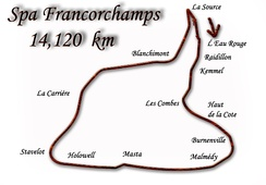 Map of the Belgian track
