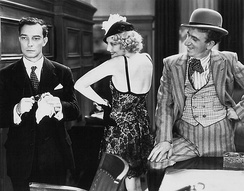 Keaton with Thelma Todd and Jimmy Durante in Speak Easily
