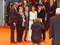 Blethyn along with her cast and crew of Two Men in Town (2014) at the 2014 Berlin Film Festival.