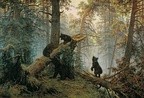 Morning in a Pine Forest by Ivan Shishkin, 1886 (Savitsky wrote bears)
