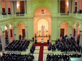 Visit of Pope Benedict XVI to the Jesuit-run Pontifical Gregorian University