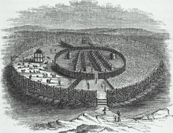 Fortifications were significant in West Africa; the Walls of Benin were one of the largest man-made structures in the world.[57][58]