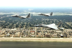 F-15C Eagles of the 125th Fighter Wing over Jacksonville Beach, 2009