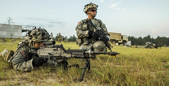 Massachusetts National Guard Soldiers during Annual Training (JRTC, Ft. Polk, Louisiana).