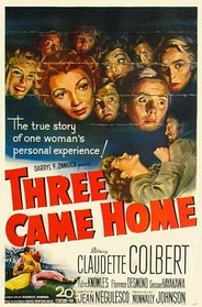 Three Came Home, a 1950 Hollywood film based on the memoir of Agnes Newton Keith life in Sandakan, North Borneo (present-day Sabah) during World War II.[90]