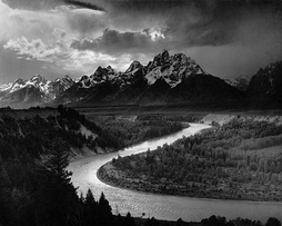 The Tetons and the Snake River (1942) photograph by Ansel Adams