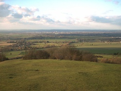 Part of Aylesbury Vale taken from the top of Coombe Hill, looking towards Aylesbury