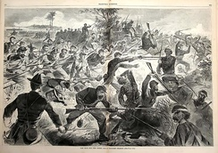 Union forces performing a bayonet charge, 1862