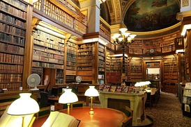 The Library of the Palais Bourbon in Paris