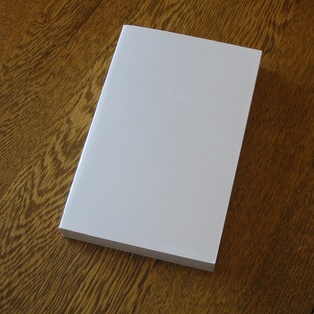 Blank paperback book