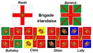 Flags of the Irish regiments in French service