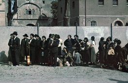 Roma waiting to be deported from Asperg, Germany, 22 May 1940