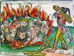 Jews burned alive for the alleged host desecration in Deggendorf, Bavaria, in 1337