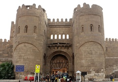 Bab al-Futuh gate built by the Fatimid vazir Badr al-Jamali