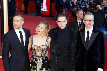 From left to right: Hunnam, Miller, Pattinson and Gray at the film's premiere at the 2017 Berlin International Film Festival.