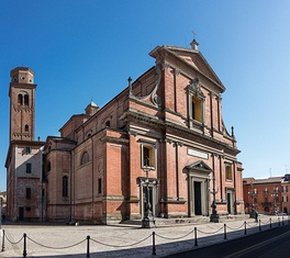 The Cathedral of Imola, the seat of the Bishopric of Imola.